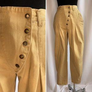 Vintage Gitano Tan High Waisted Cropped Pants